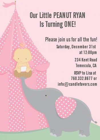 Our little girl peanuts first birthday party invitations candles our little girl peanuts first birthday party invitations filmwisefo