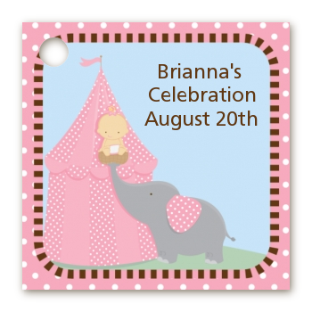 Our Little Peanut Girl - Personalized Baby Shower Card Stock Favor Tags