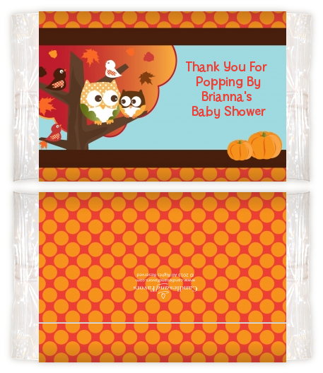 Owl Fall Theme Or Halloween Baby Shower Popcorn Wrappers Baby