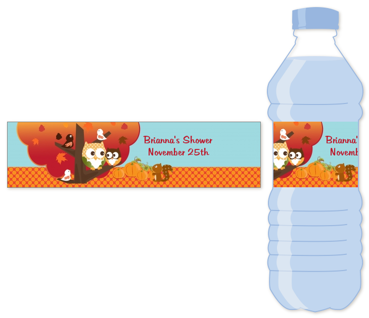 9a2a97c805 ... Theme or Halloween - Personalized Baby Shower Water Bottle Labels ·  click to enlarge