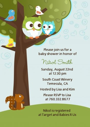 Owl Baby Shower Invitations Boy Owl Baby Shower Invitations