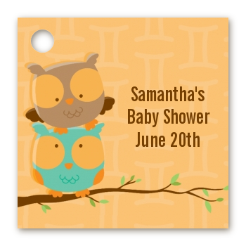 Owls | Gemini Horoscope - Personalized Baby Shower Card Stock Favor Tags