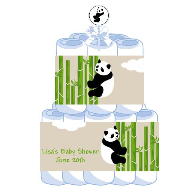 tier panda baby shower diaper cake panda baby shower centerpiece