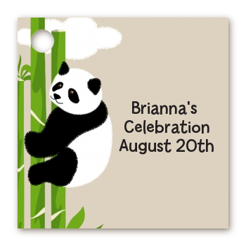 Panda - Personalized Baby Shower Card Stock Favor Tags