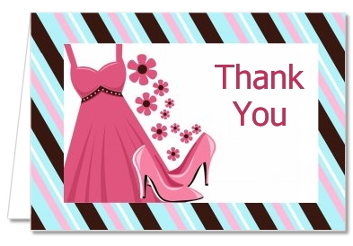 Party Dress | Sweet 16 - Birthday Party Thank You Cards