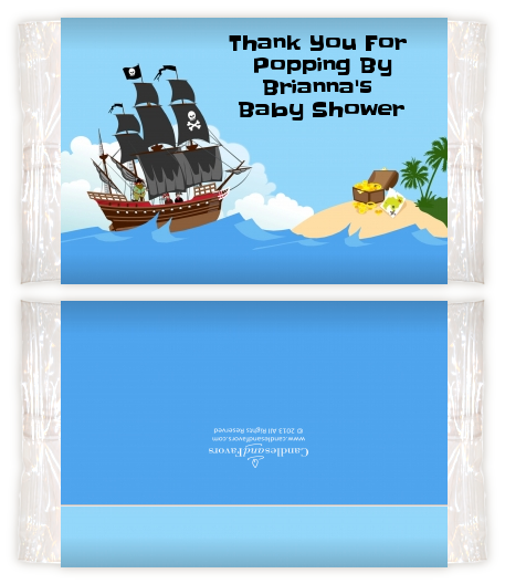 Pirate Ship Baby Shower Popcorn Wrappers Baby Shower Popcorn Wrappers