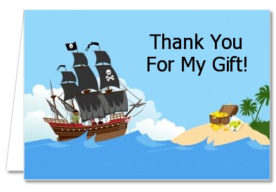 pirate ship baby shower thank you cards
