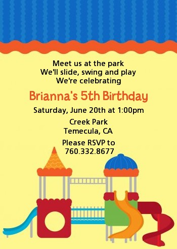 Playground - Birthday Party Invitations