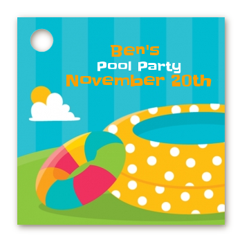 birthday party favor tags pool party favor tags