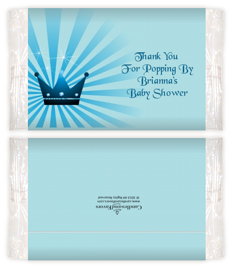 Prince Royal Crown Baby Shower Popcorn Wrappers Baby Shower