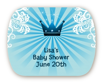 Prince Royal Crown Mint Tin Stickers Baby Shower Stickers