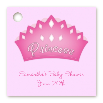 princess crown baby shower card stock favor tags