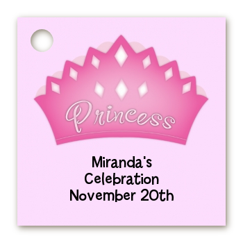 Princess Crown - Personalized Birthday Party Card Stock Favor Tags