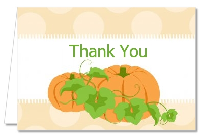 Thanksgiving Thank You Cards Pumpkin Trio Fall Theme Thank You Notes