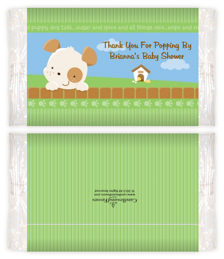 Puppy Dog Tails Neutral Baby Shower Popcorn Wrappers Baby Shower