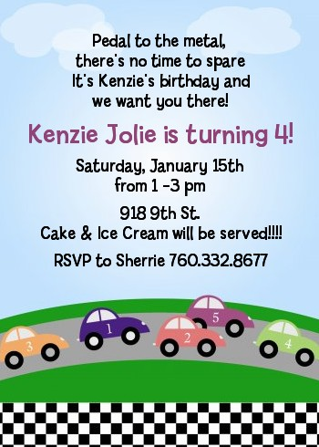 race car birthday party invitations  candles and favors, Birthday invitations