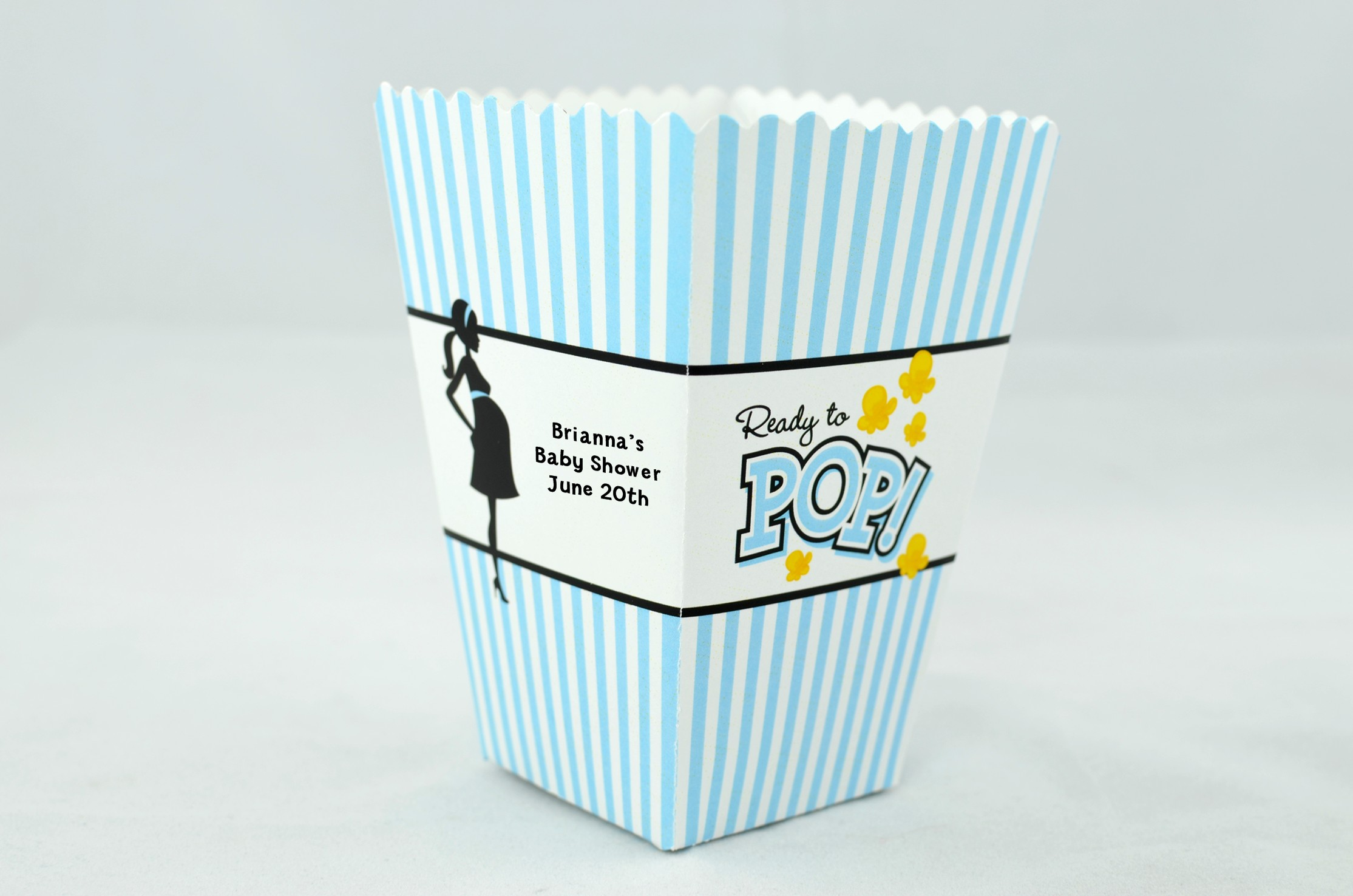 Blue Popcorn Favor Boxes : Blue popcorn box imgkid the image kid has it