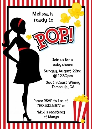 ready to pop baby shower invitations candles and favors
