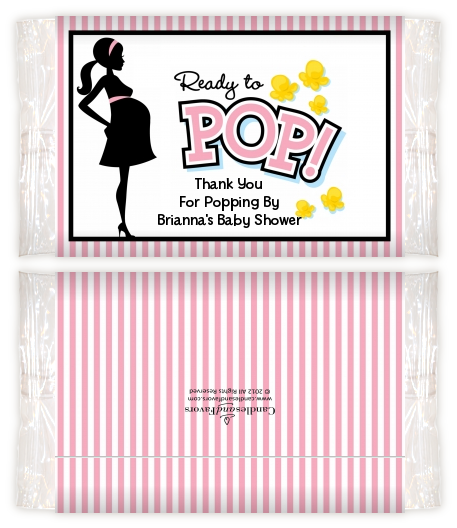 ... Pop Pink Baby Shower Popcorn Wrappers | Baby Shower Popcorn Wrappers