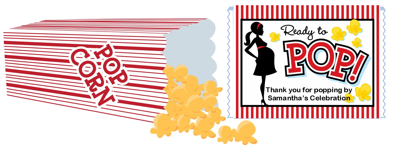 Popcorn invitations template just b cause for Ready to pop stickers template