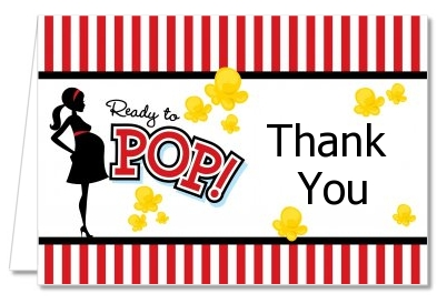 Ready To Pop ® - Baby Shower Thank You Cards