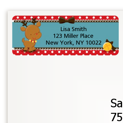Rudolph the Reindeer - Christmas Return Address Labels
