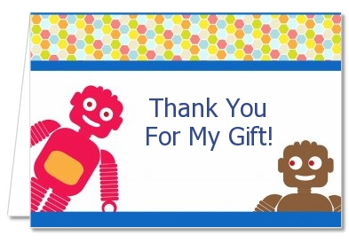 Robots - Baby Shower Thank You Cards