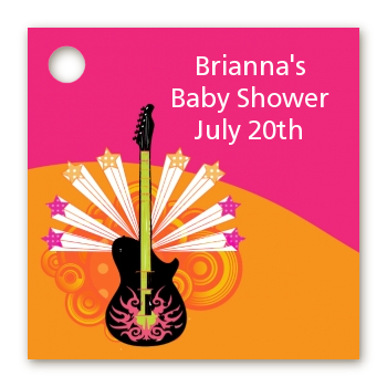 Future Rock Star Girl - Personalized Baby Shower Card Stock Favor Tags