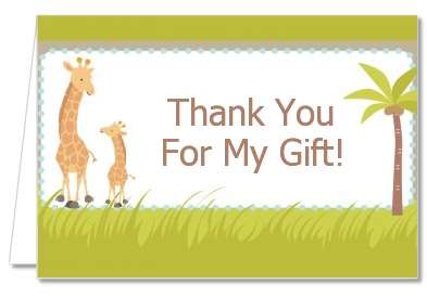 Giraffe - Baby Shower Thank You Cards