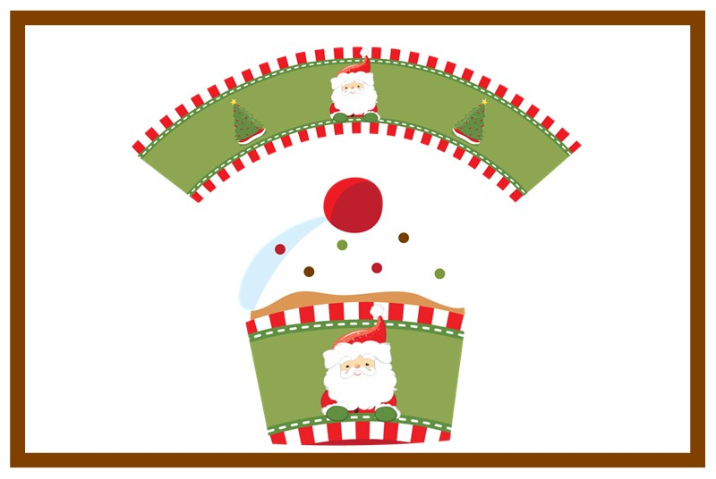 Santa claus christmas cupcake wrappers candles favors