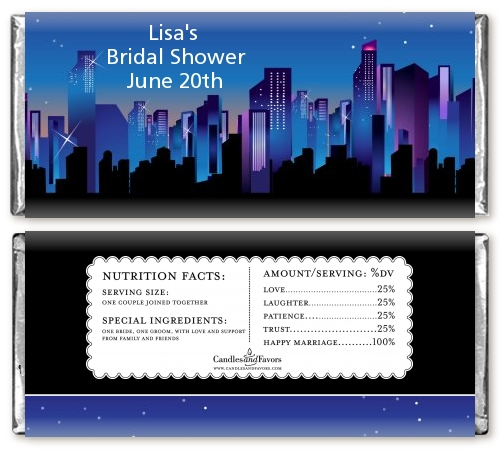 sex in the city personalized bridal shower candy bar wrappers