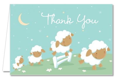 Sheep - Baby Shower Thank You Cards
