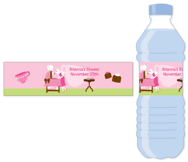 Sip And See Its A Girl Water Bottle Label Baby Shower Water