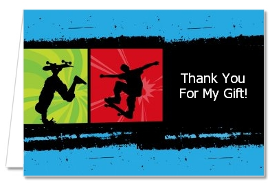 Birthday Party Thank You Cards | Skateboard Thank You Notes