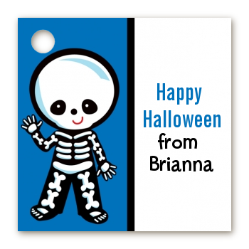 Skeleton - Personalized Halloween Card Stock Favor Tags