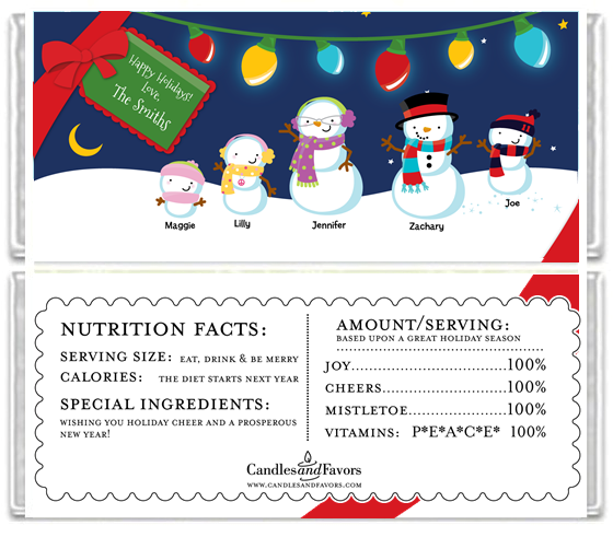 Free Printable Christmas Candy Bar Wrapper Templates
