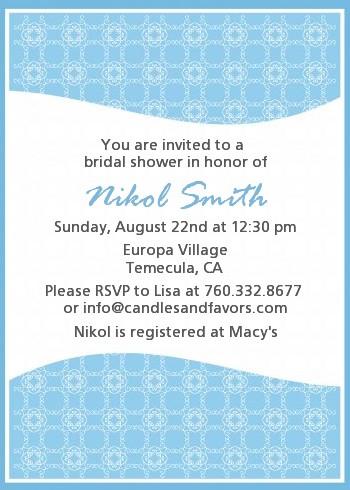 Something Blue - Bridal Shower Invitations