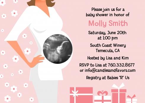 Sonogram its a girl baby shower invitations candles and favors sonogram its a girl baby shower invitations filmwisefo