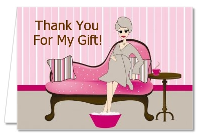 Spa Mom Pink - Baby Shower Thank You Cards