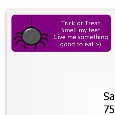 Spider - Halloween Return Address Labels