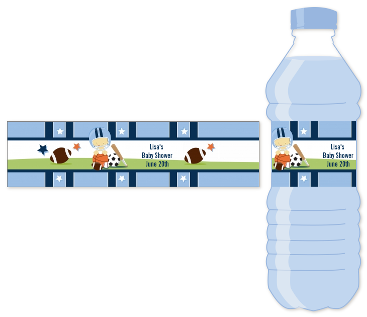 sports baby asian baby shower water bottle labels