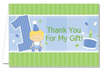 Birthday Party Thank You Cards 1st Birthday Boy Thank You Notes