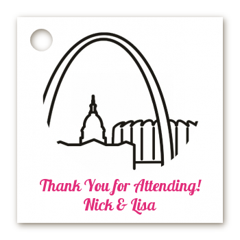 St. Louis Skyline - Personalized Bridal Shower Card Stock Favor Tags