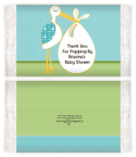 Stork Its A Boy Baby Shower Popcorn Wrappers Baby Shower Popcorn