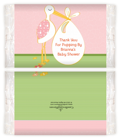 Stork Its A Girl Baby Shower Popcorn Wrappers Baby Shower Popcorn
