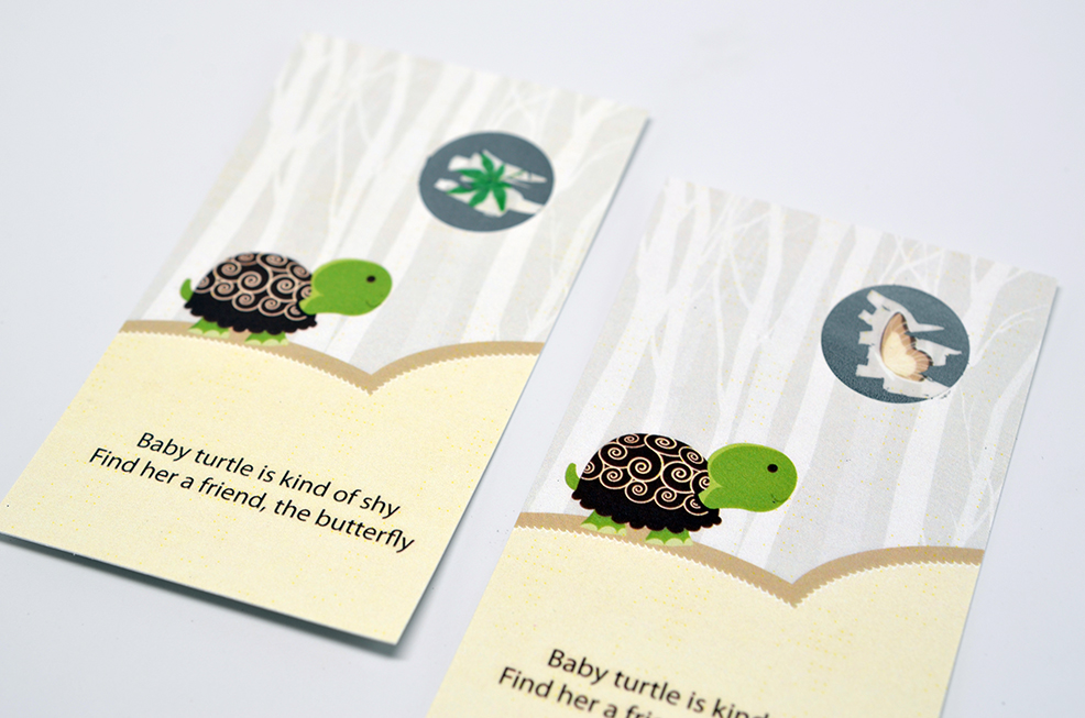Baby Turtle Neutral - Baby Shower Scratch Off Game Tickets