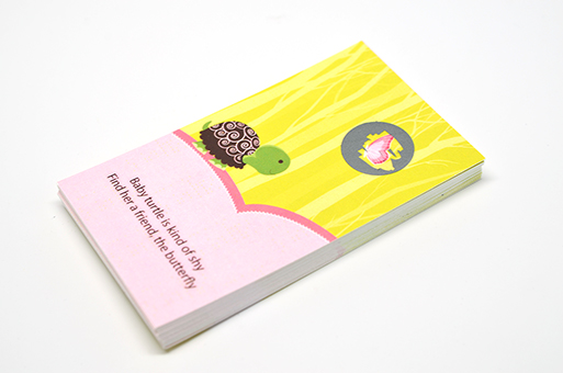 Baby Turtle Pink - Baby Shower Scratch Off Game Tickets