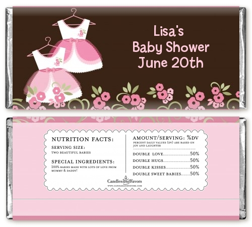 baby shower candy bar wrapper