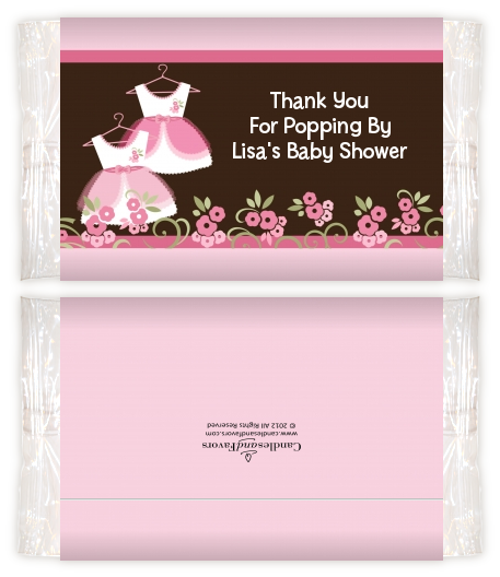 Twin Little Girl Outfits Baby Shower Popcorn Wrappers Baby Shower
