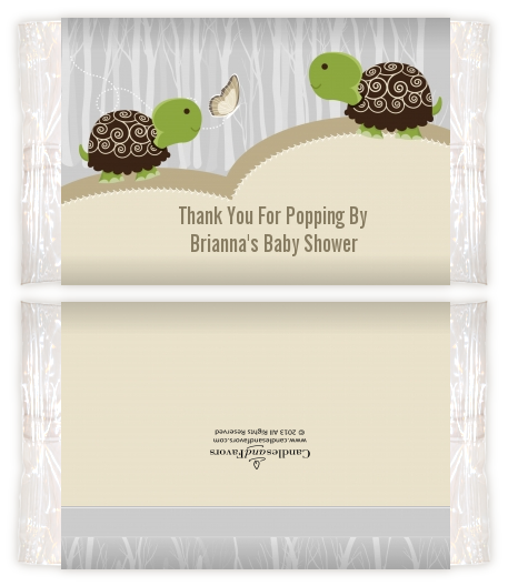 Twin Turtles Baby Shower Popcorn Wrappers Baby Shower Popcorn Wrappers